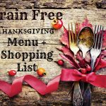 grain free thanksgiving menu