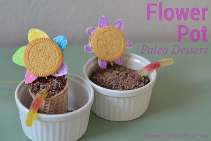 Flower Pot Paleo Chocolate Pudding